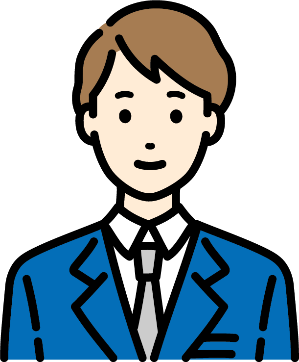 ビジネスマン(男)のイラスト-