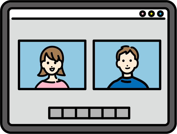 オンライン会議のイラスト