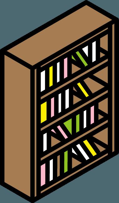 本棚のイラスト。
