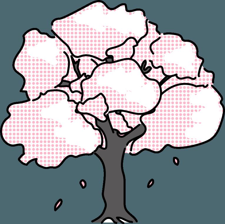桜のイラスト。