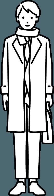 コートを着ている人(男)のイラスト