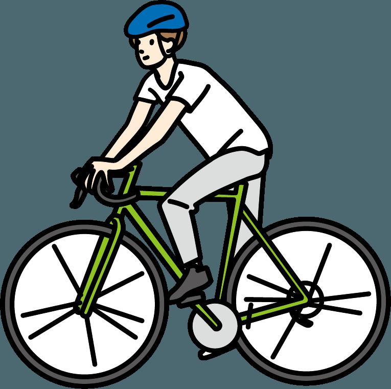 自転車に乗っている人のイラスト