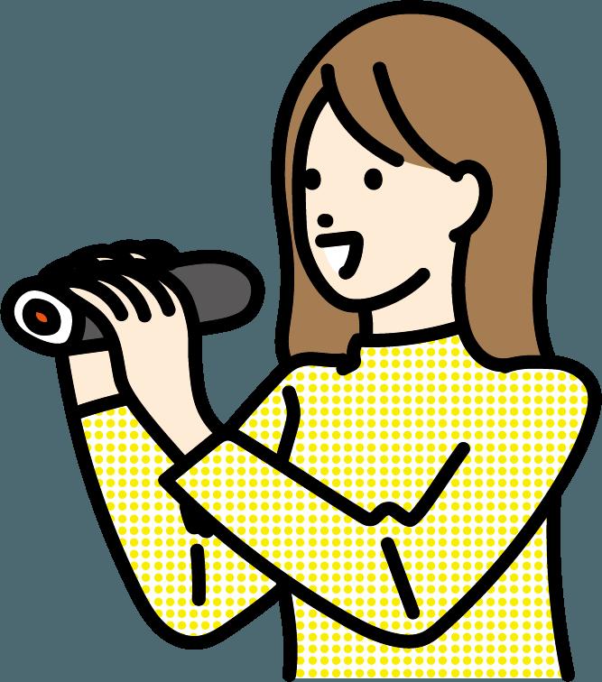 恵方巻を食べている人のイラスト
