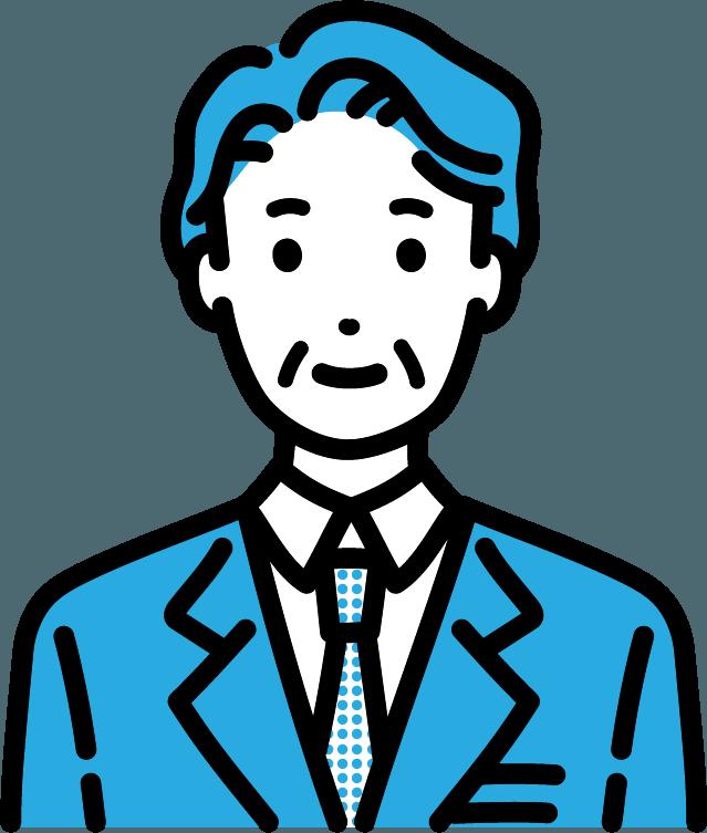中年のビジネスマン(男)のイラスト
