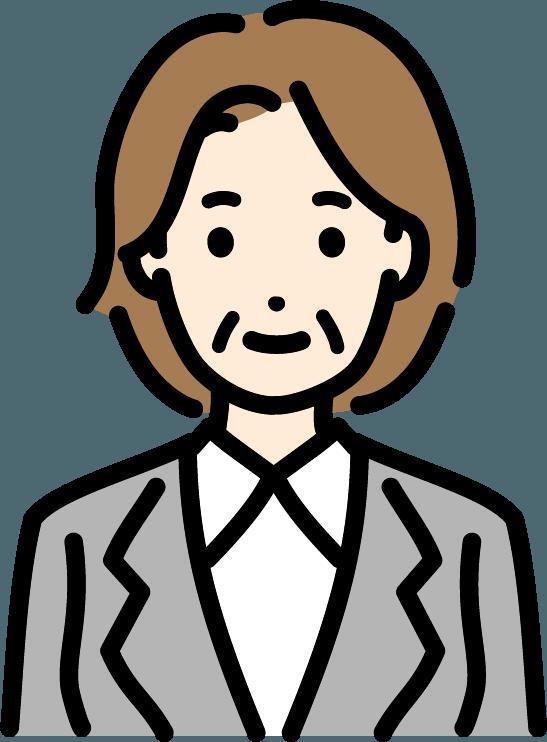 中年のビジネスマン(女)のイラスト