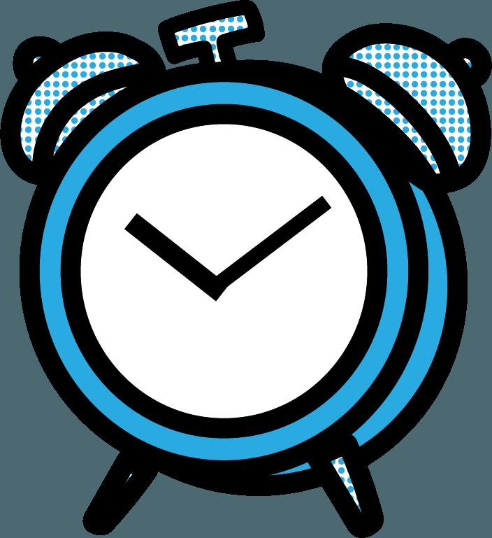目覚まし時計のイラスト