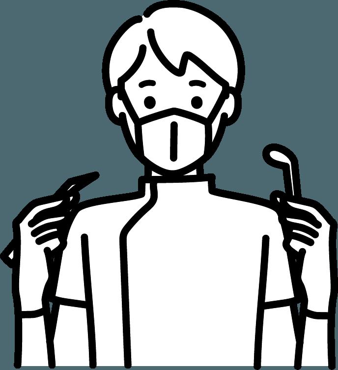 歯医者さん(男)のイラスト