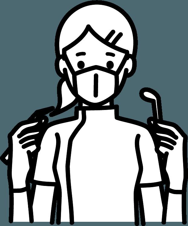 歯医者さん(女)のイラスト