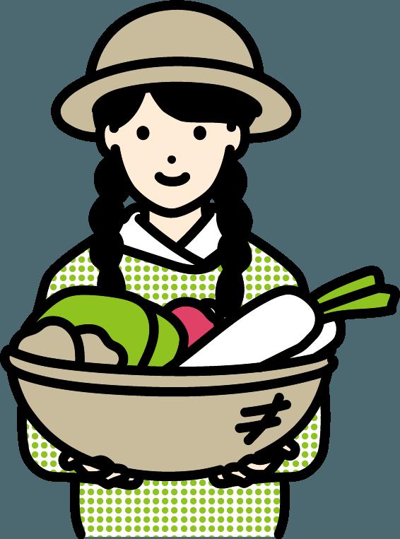 農家の人(女)のイラスト