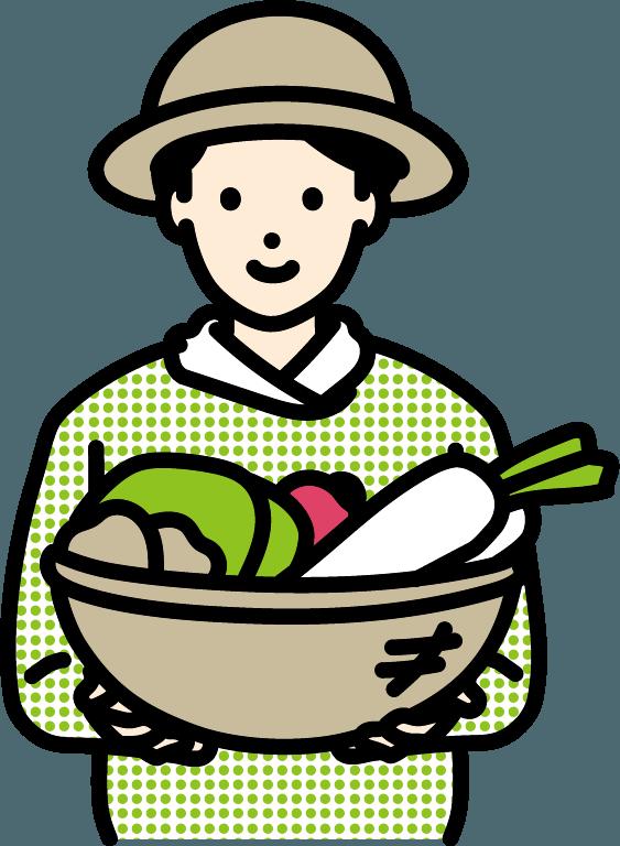 農家の人(男)のイラスト