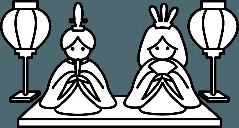 ひな人形のイラスト