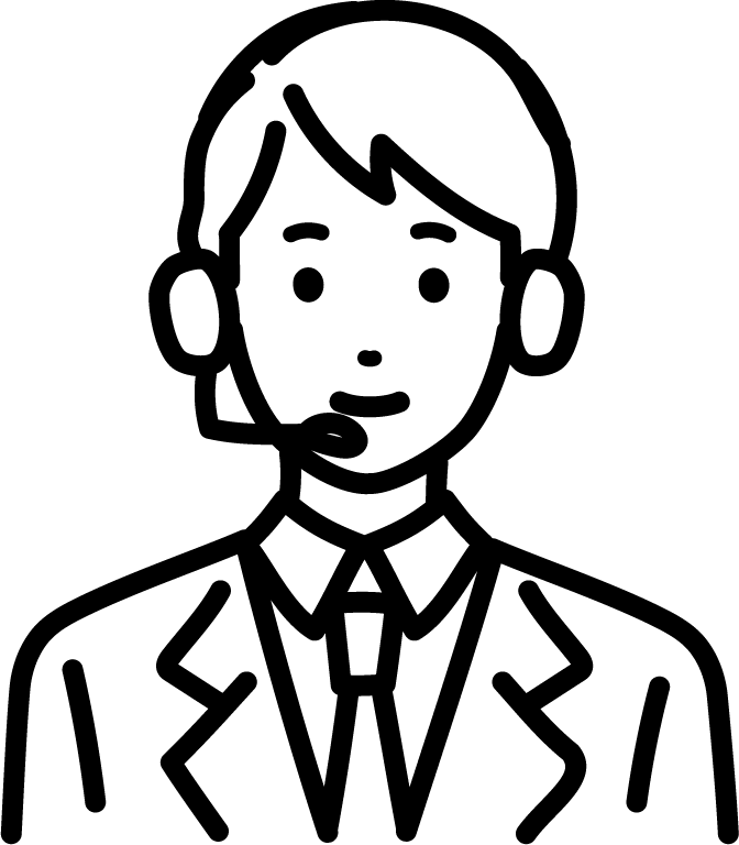 オペレーター(男)のイラスト