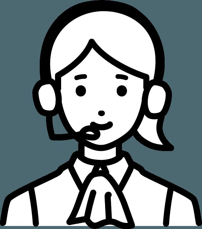 オペレーター(女)のイラスト