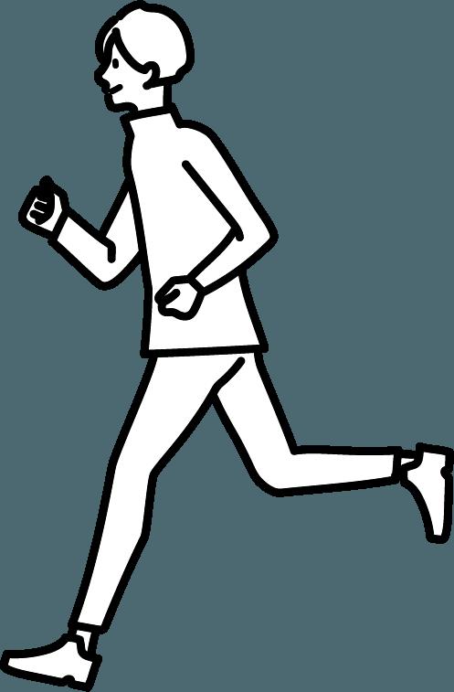 走っている人(男)のイラスト