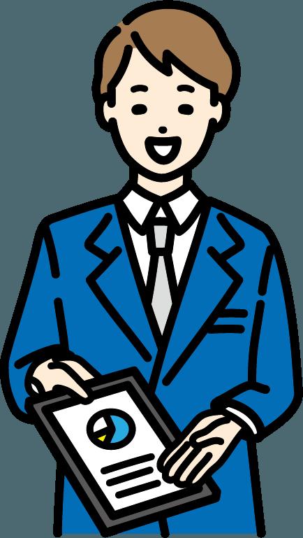 営業の人(男)のイラスト