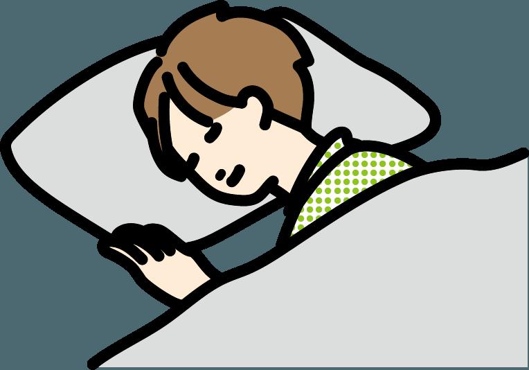 寝ている人(男)のイラスト