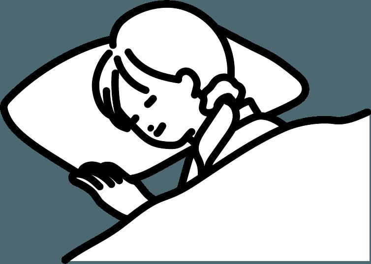 寝ている人(女)のイラスト