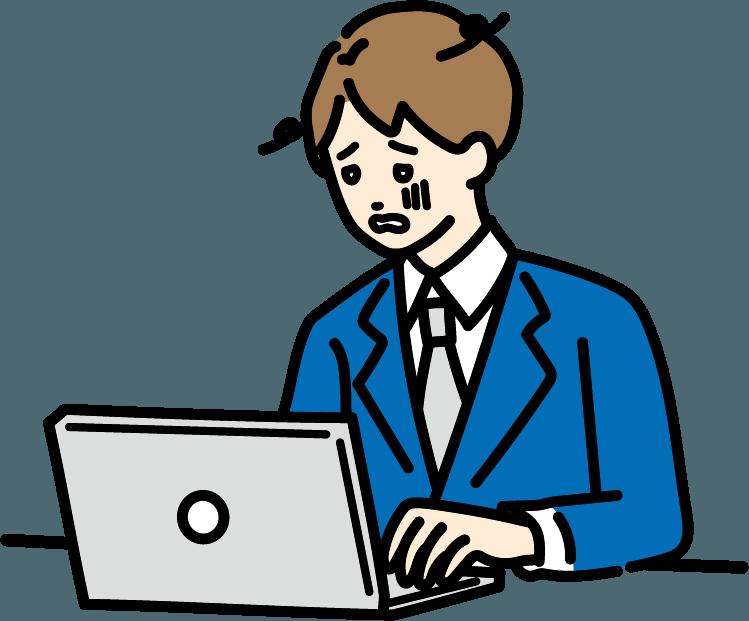 疲れているビジネスマン(男)のイラスト