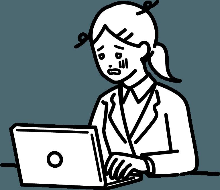 疲れているビジネスマン(女)のイラスト