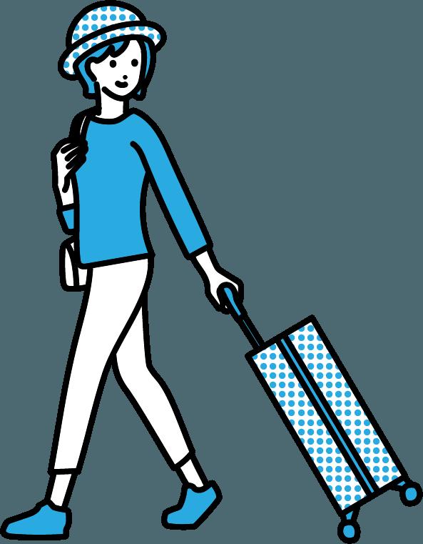 旅行している人のイラスト-2