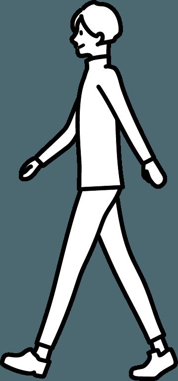 歩いている人(男)のイラスト