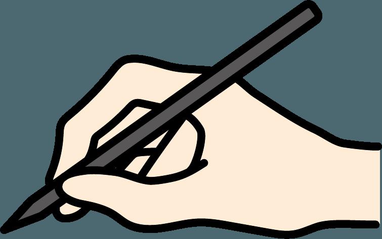 ペンで書いているイラスト