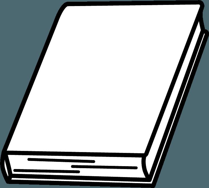 閉じている本のイラスト