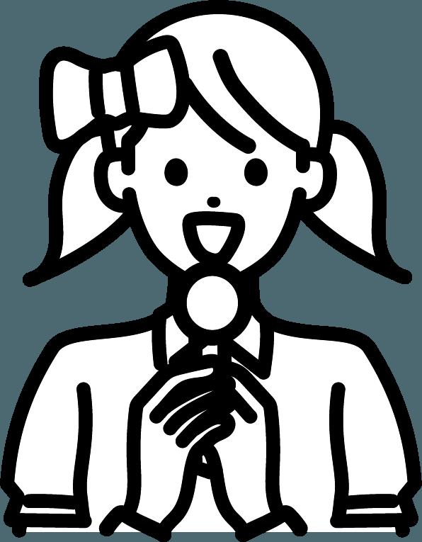 アイドル(女)のイラスト
