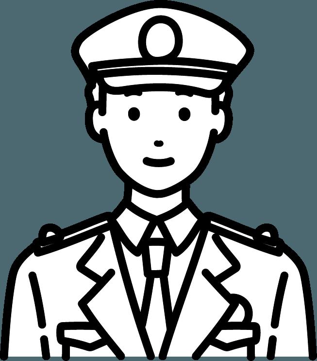 警察官(男)のイラスト