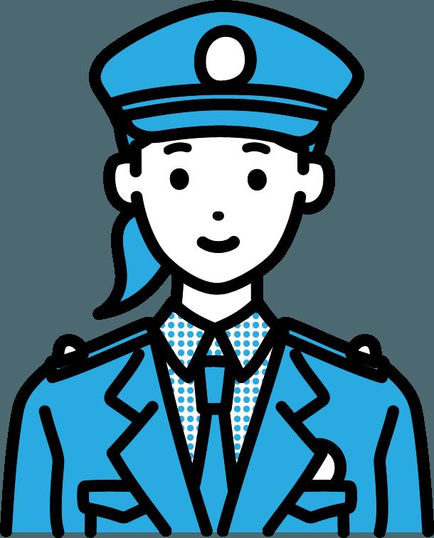 警察官(女)のイラスト