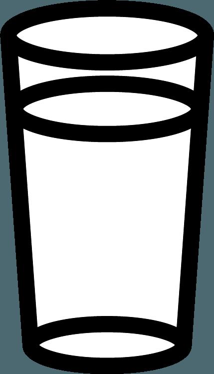 水の入ったグラスのイラスト