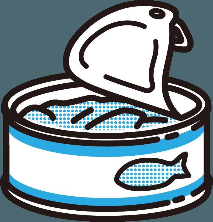 サバ缶のイラスト