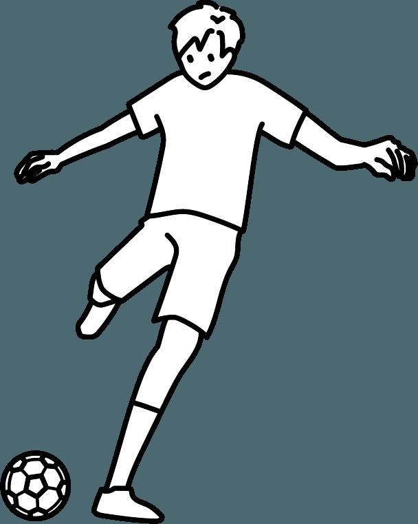 サッカーのイラスト