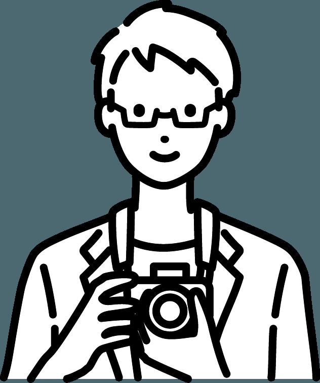 カメラマンのイラスト