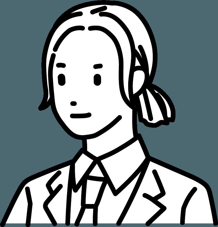 ロングヘアーの人のイラスト